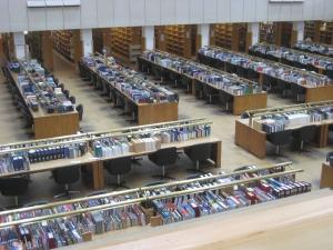 The main reading room floor