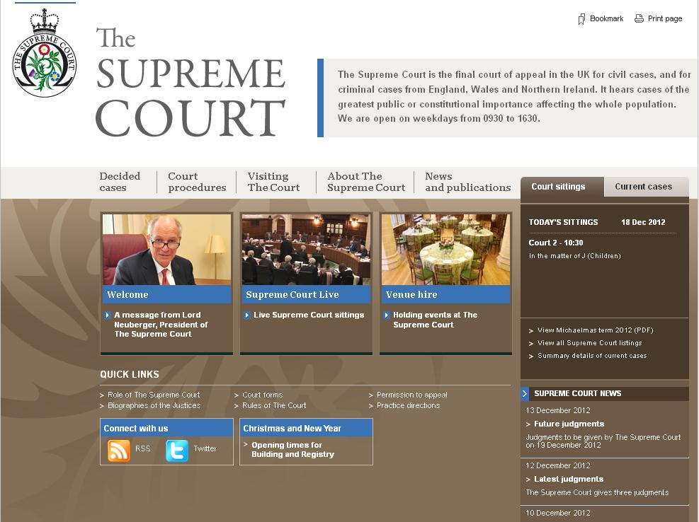 Supreme Court website