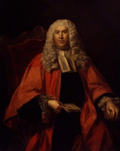 Sir William Blackstone  by Unknown artist oil on canvas, circa 1755