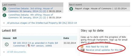 IP Bill alerts