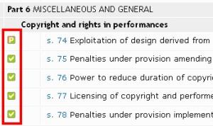 Is it in force feature from Westlaw
